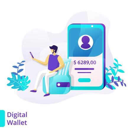 Digital Wallet Illustration