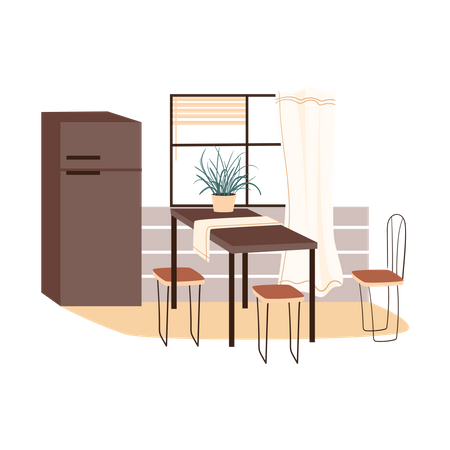 Dining area Illustration