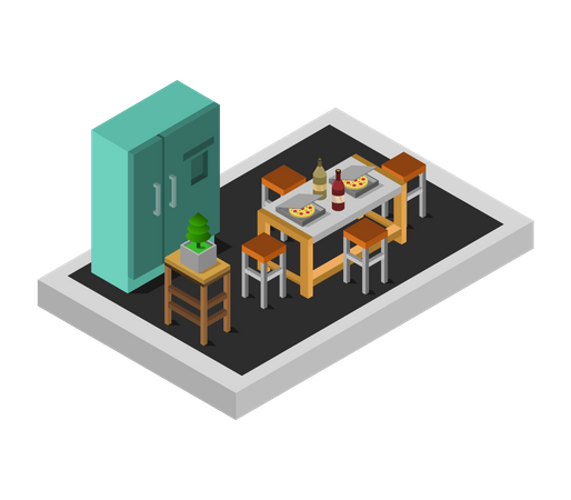 Dining room Illustration