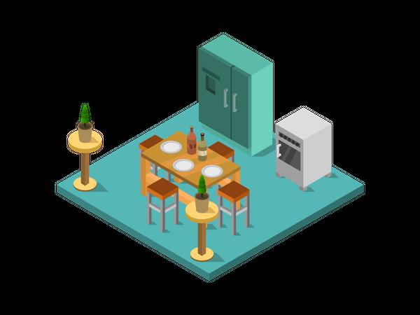 Dining set Illustration