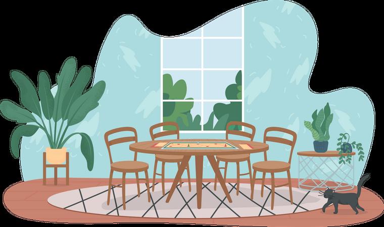Dining Table Illustration