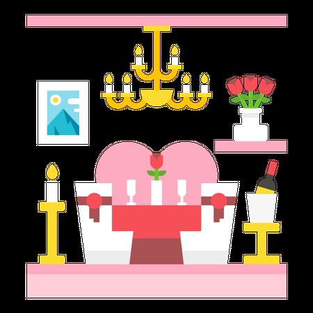 Dinner date Illustration