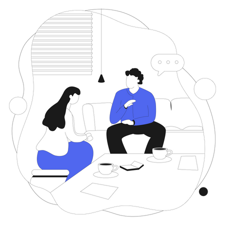 Direct Customer Consultation Illustration