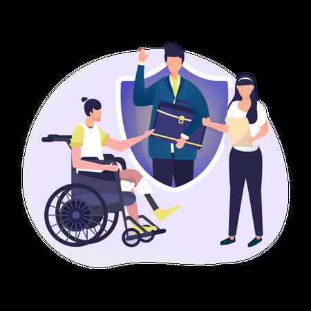 Disability insurance Illustration
