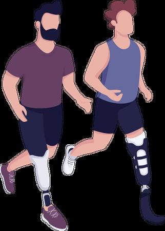 Disabled sportsmen race Illustration