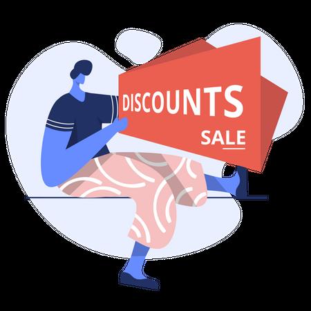 Discount sales Illustration