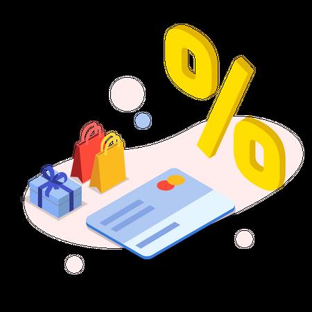 Discount using Credit Card Illustration