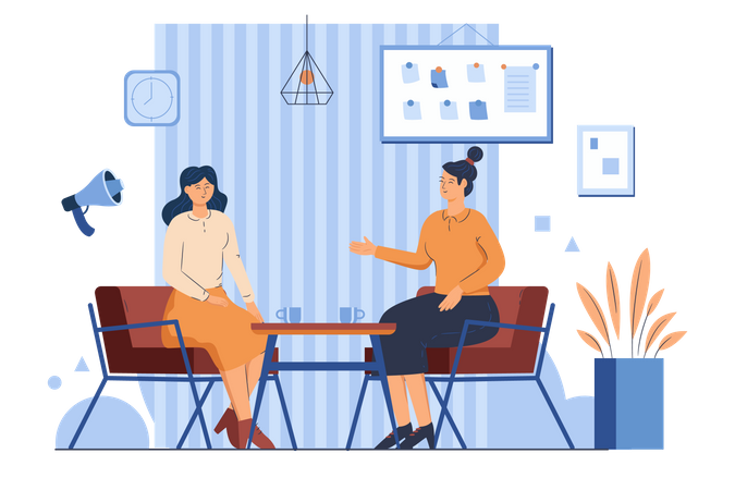 Discuss With Customers Illustration