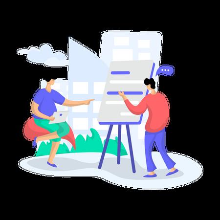 Discussion Forum Illustration
