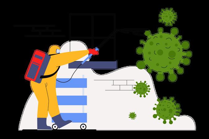Disinfectant Illustration