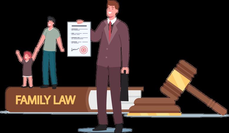 Divorce, Child Custody or Alimony Illustration
