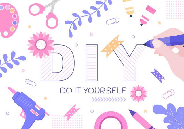 DIY Tools Do It Yourself Illustration