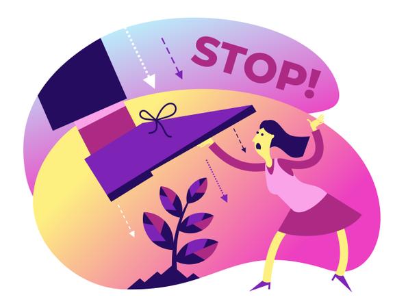 Do not cut trees Illustration
