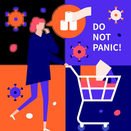 Do not panic Illustration