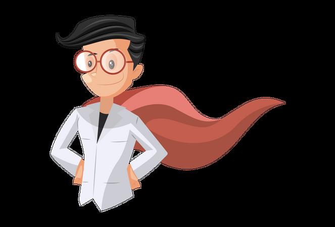 Doctor as Super Hero Illustration