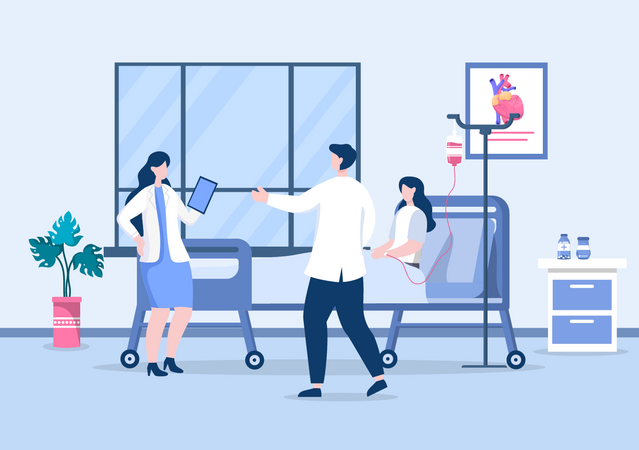 Doctor Checking a Patient Illustration