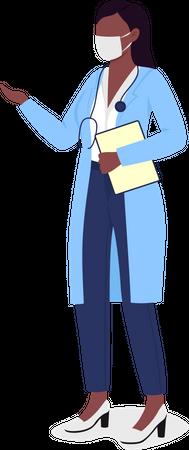 Doctor in mask Illustration