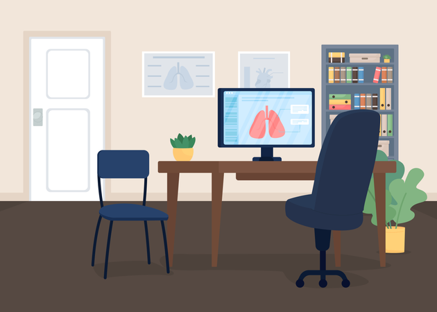 Doctor office Illustration
