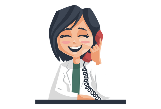 Doctor talking in the telephone Illustration