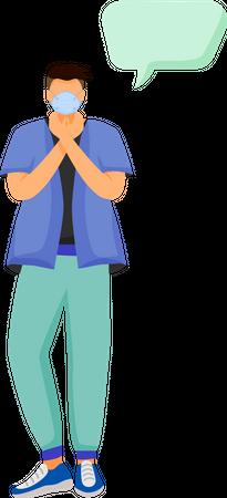 Doctor wearing mask Illustration