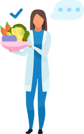 Doctor with healthy food Illustration
