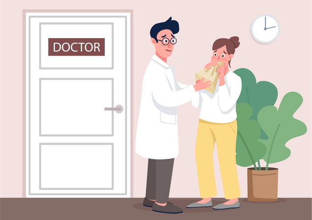 Doctor with patient Illustration