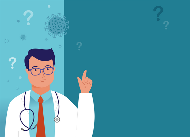 Doctor with professional health solution Illustration
