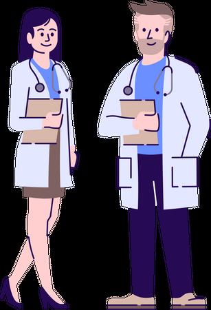 Doctors colleagues Illustration