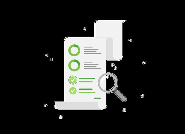 Document Analytics Illustration