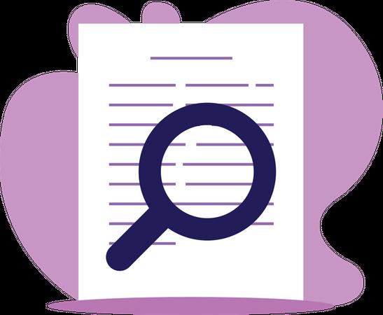Document audit review Illustration