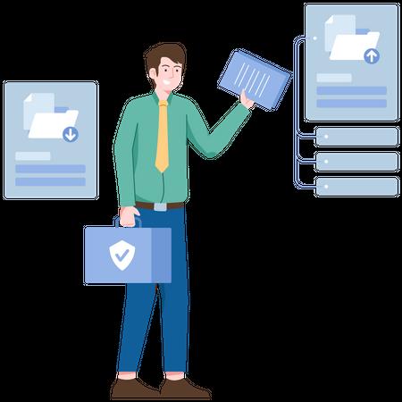 Document management Illustration