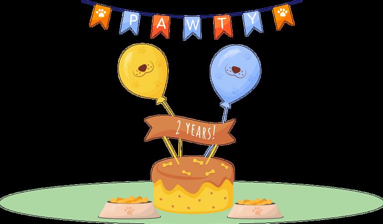 Dog cake Illustration