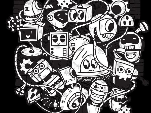 Doodle Robot Illustration
