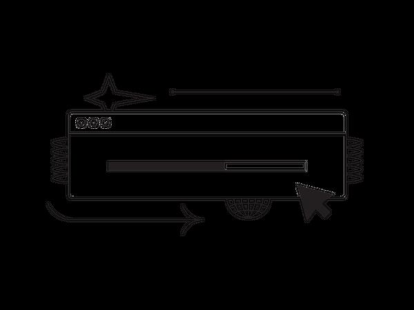 Download and upload status Illustration