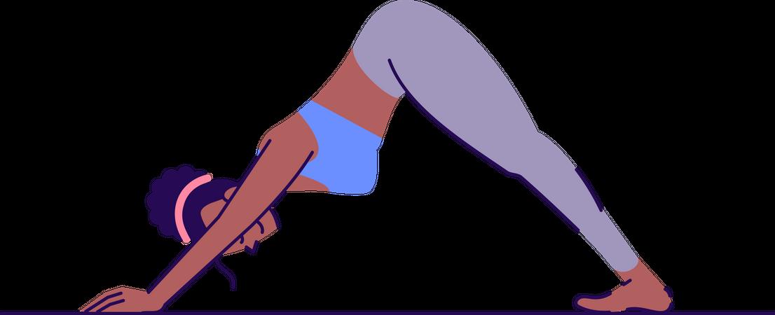 Downward facing dog pose Illustration
