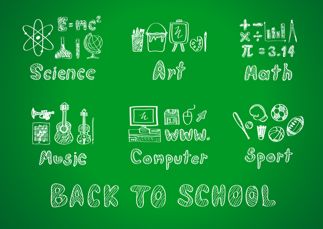 Drawing Of Back To School Illustration