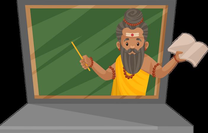 Dronacharya as guide Illustration