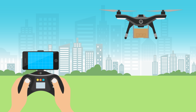 Drone delivery Service Illustration