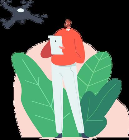 Drone Technology Illustration