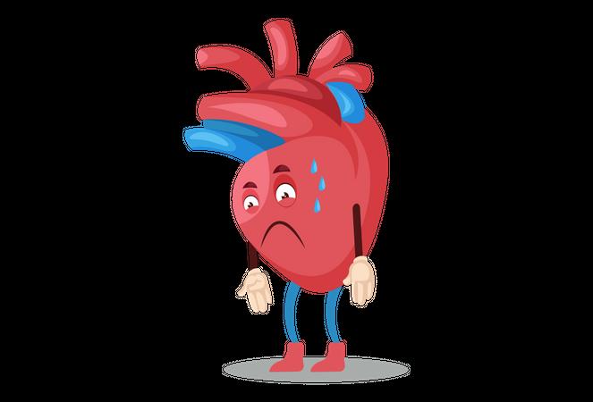 Drying heart Illustration