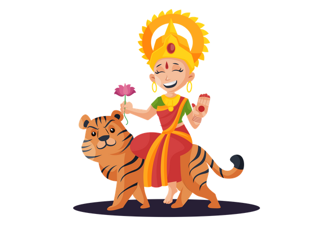 Durga Maa Illustration