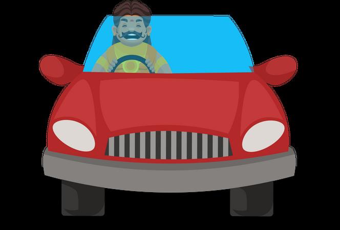 Duryodhana driving car Illustration