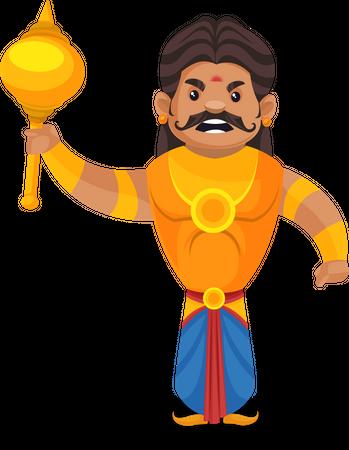 Duryodhana preparing for fight Illustration