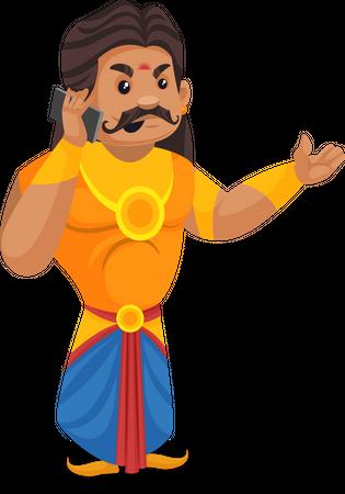 Duryodhana talking on phone Illustration