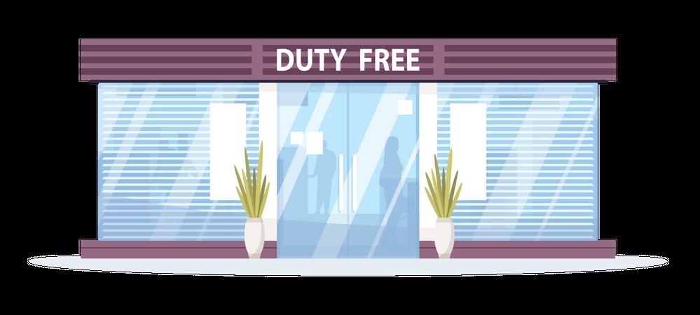 Duty free shop Illustration