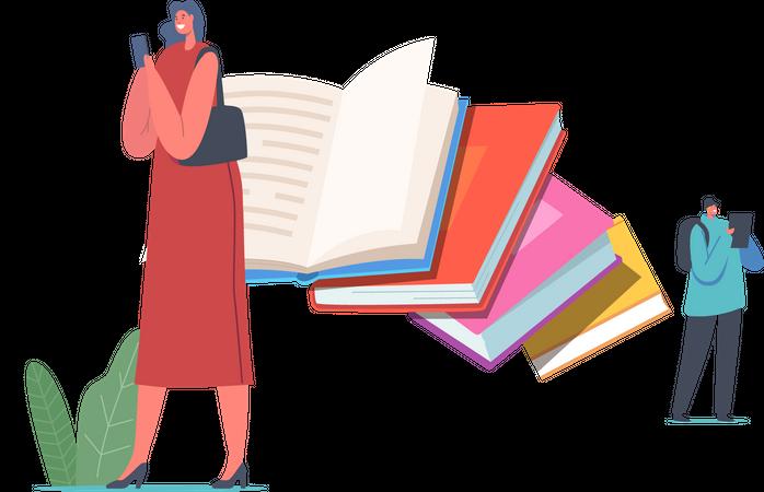 E-book Illustration
