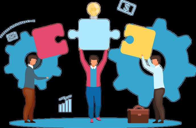 E-commerce Business Model Illustration