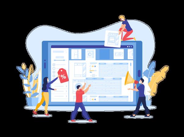 E-Commerce, Marketing Strategy during Quarantine Illustration