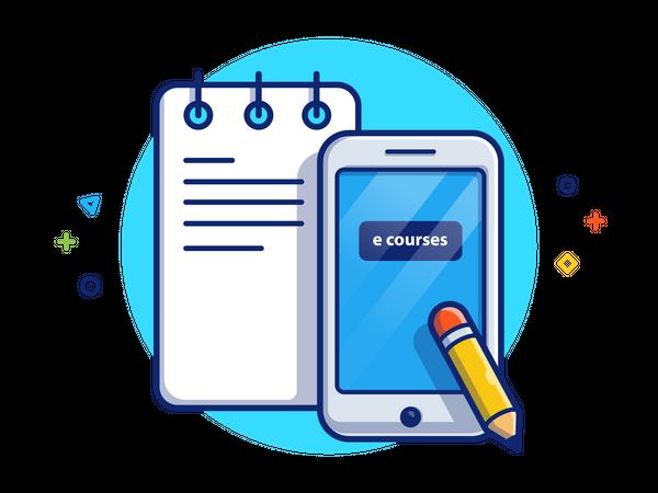 E-course Illustration