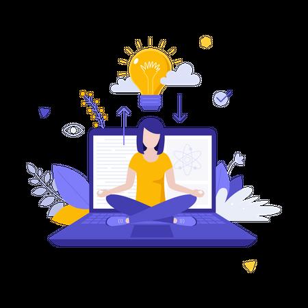E-knowledge Illustration